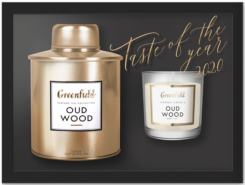 Набор чай со свечой Greenfield Oud Wood